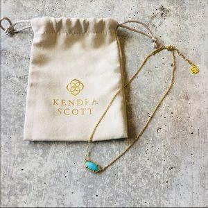 Kendra Scott Gold Turquoise Lee Pendant Necklace